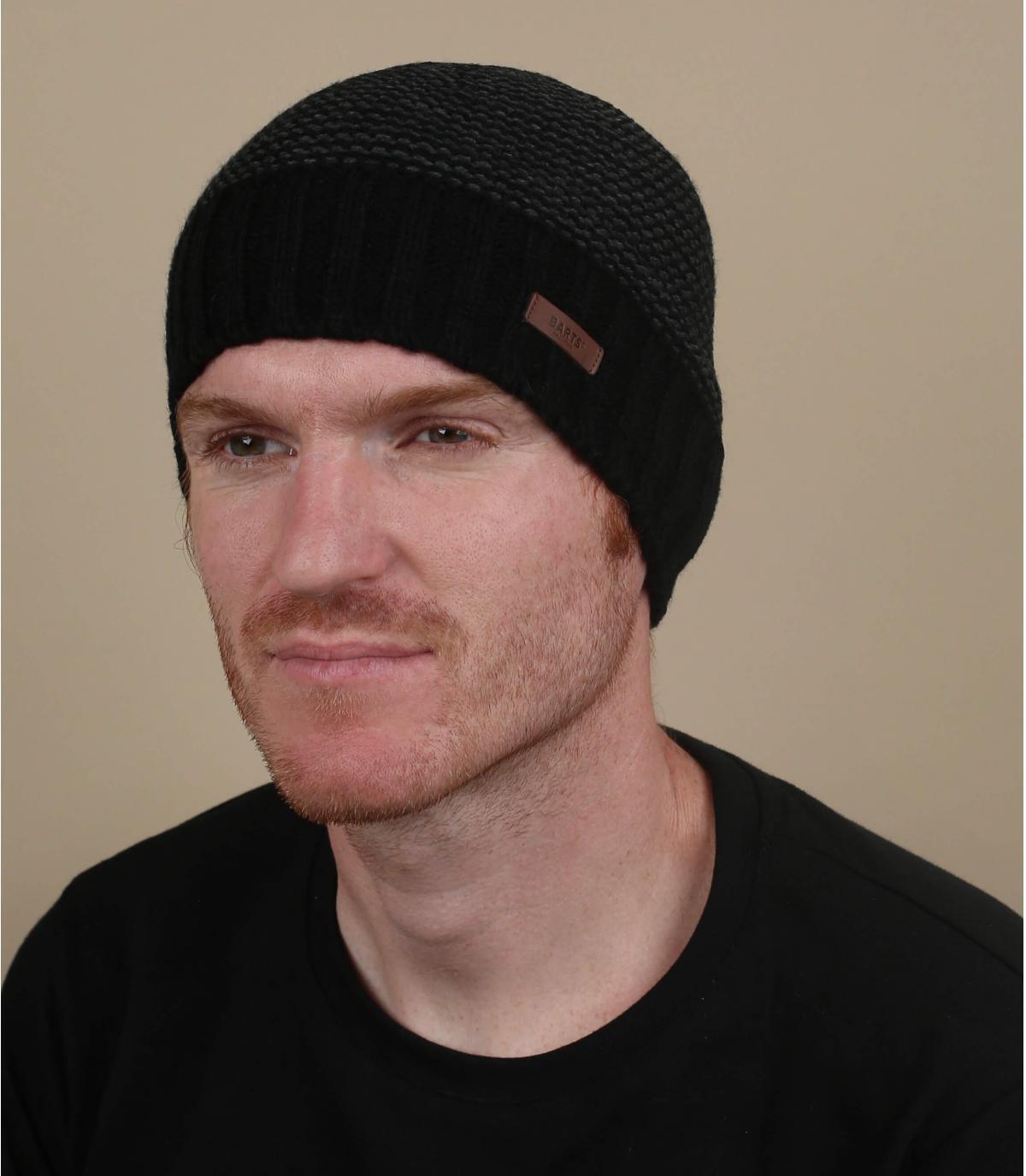 bonnet rayures noir