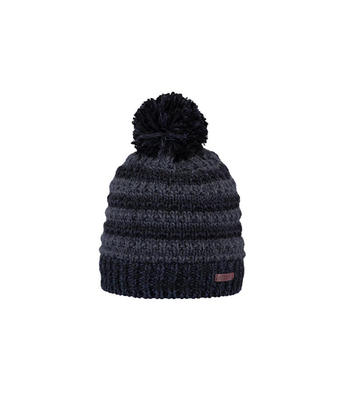 bonnet rayures bleu noir