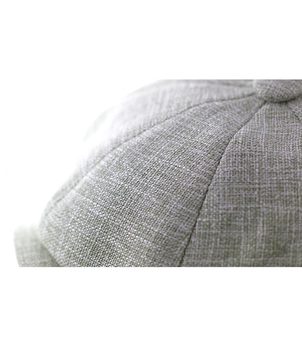 Détails Casquette gavroche coton naturel - image 3