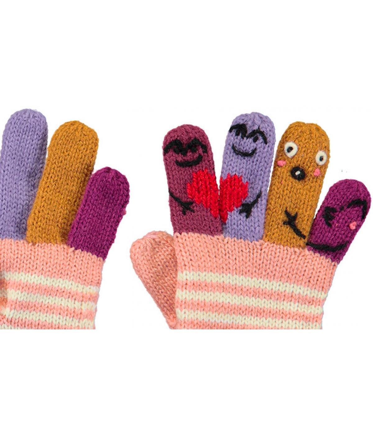 Détails Kids Puppet Gloves pink - image 2