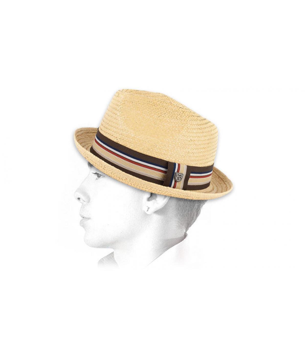 chapeau en paille homme castor par brixton. Black Bedroom Furniture Sets. Home Design Ideas
