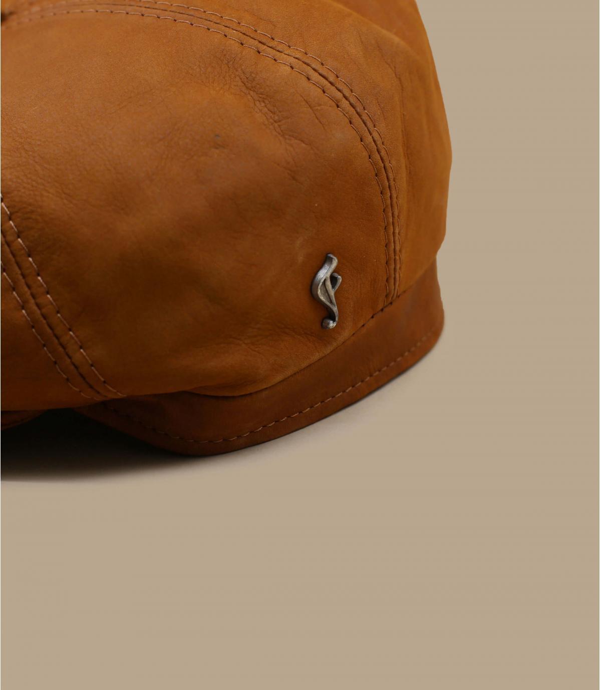 casquette gavroche cuir brun