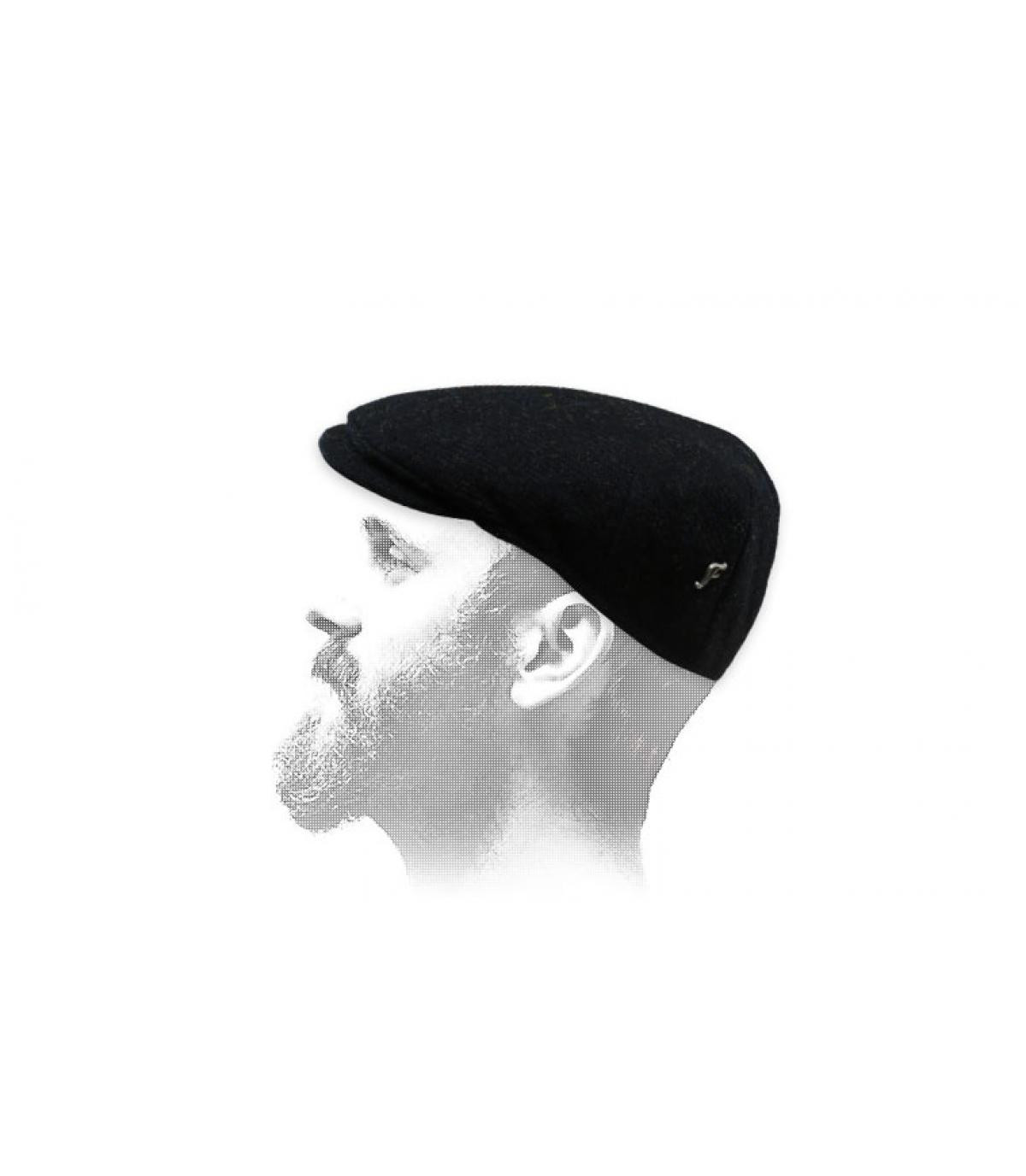 béret noir tweed Fléchet
