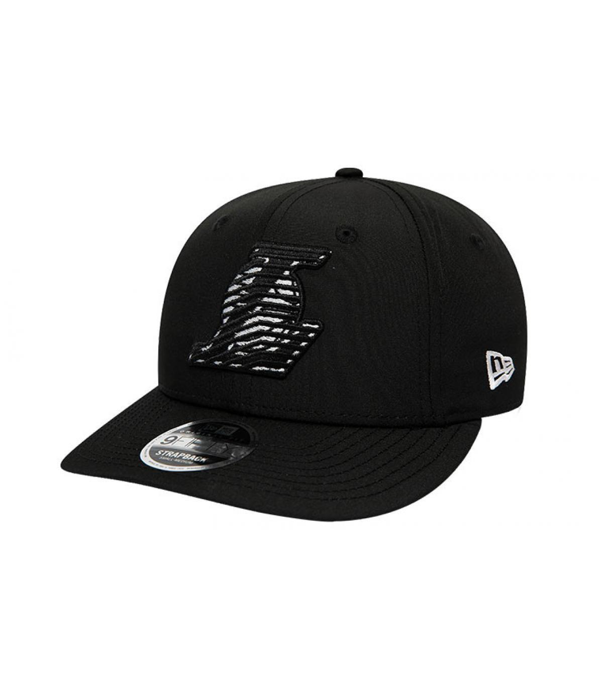 snapback Lakers noir logo zébré