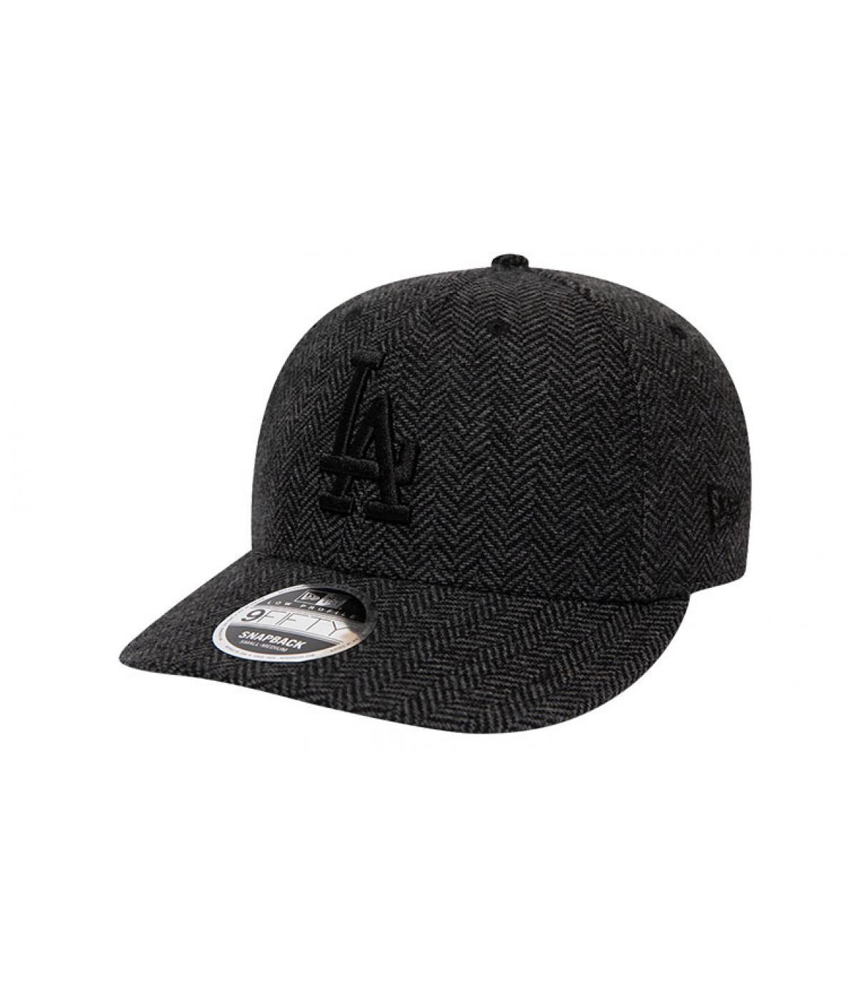 snapback LA tweed noir