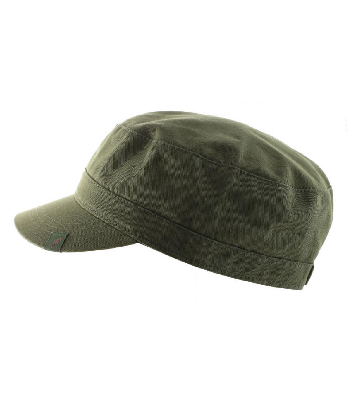 Détails Cotton twill army cap khaki - image 2