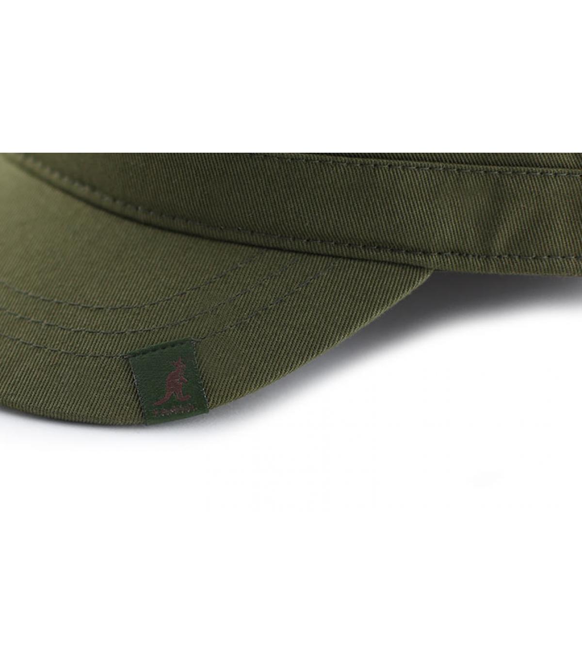 Détails Cotton twill army cap khaki - image 3