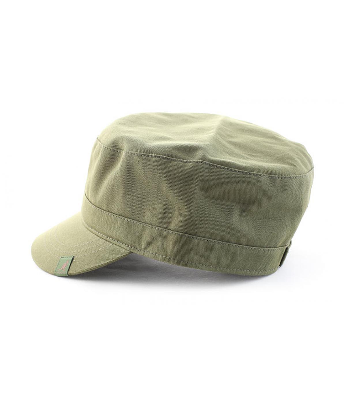 Détails Cotton twill army cap khaki - image 4