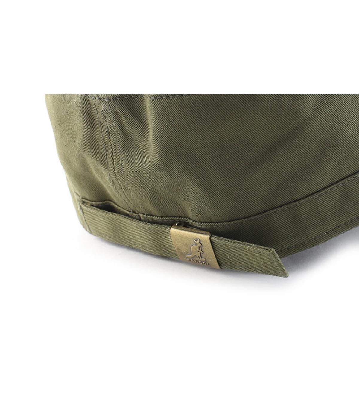 Détails Cotton twill army cap khaki - image 5