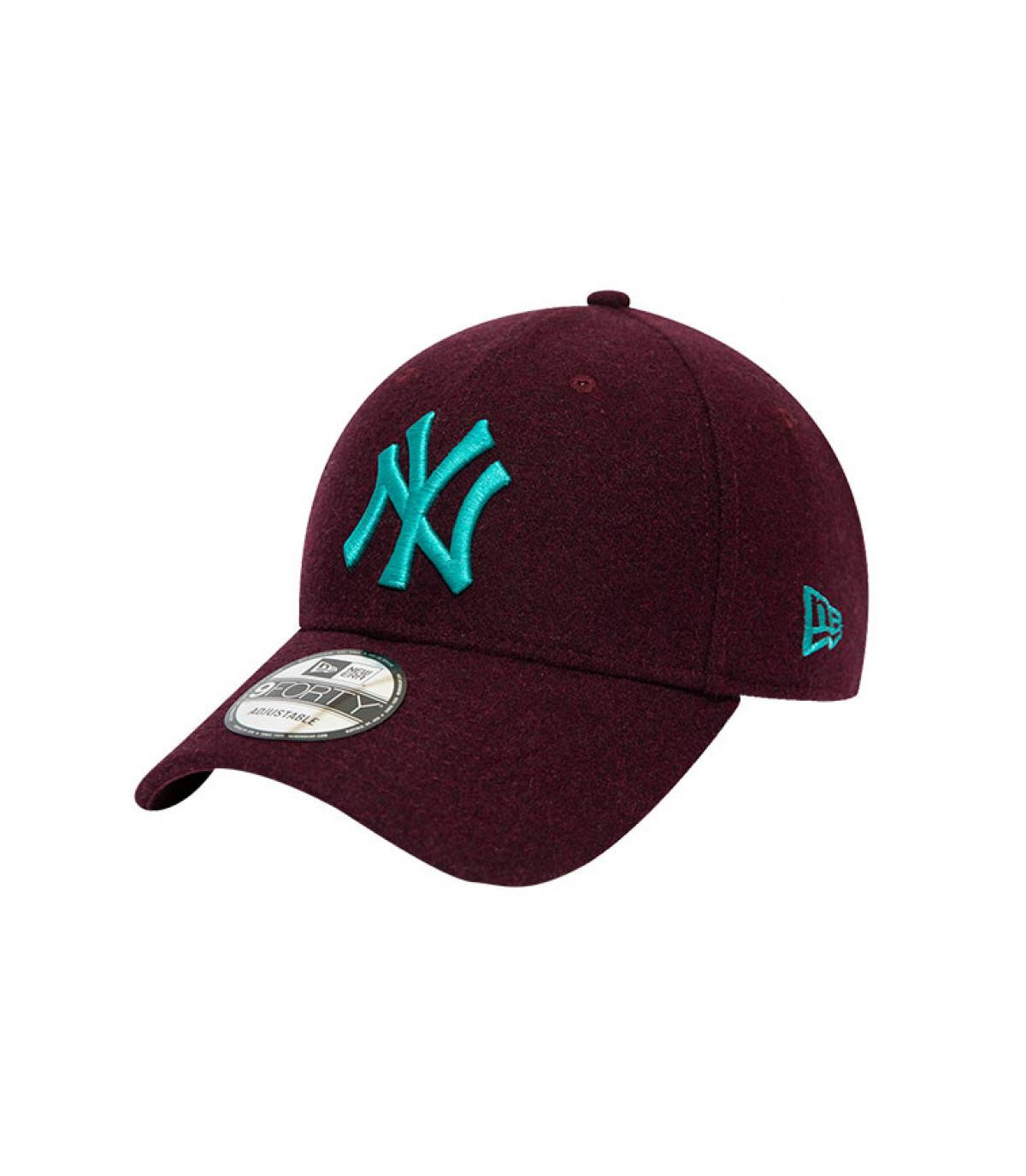 Détails Casquette MLB Melton NY 940 graphite maroon teal - image 2