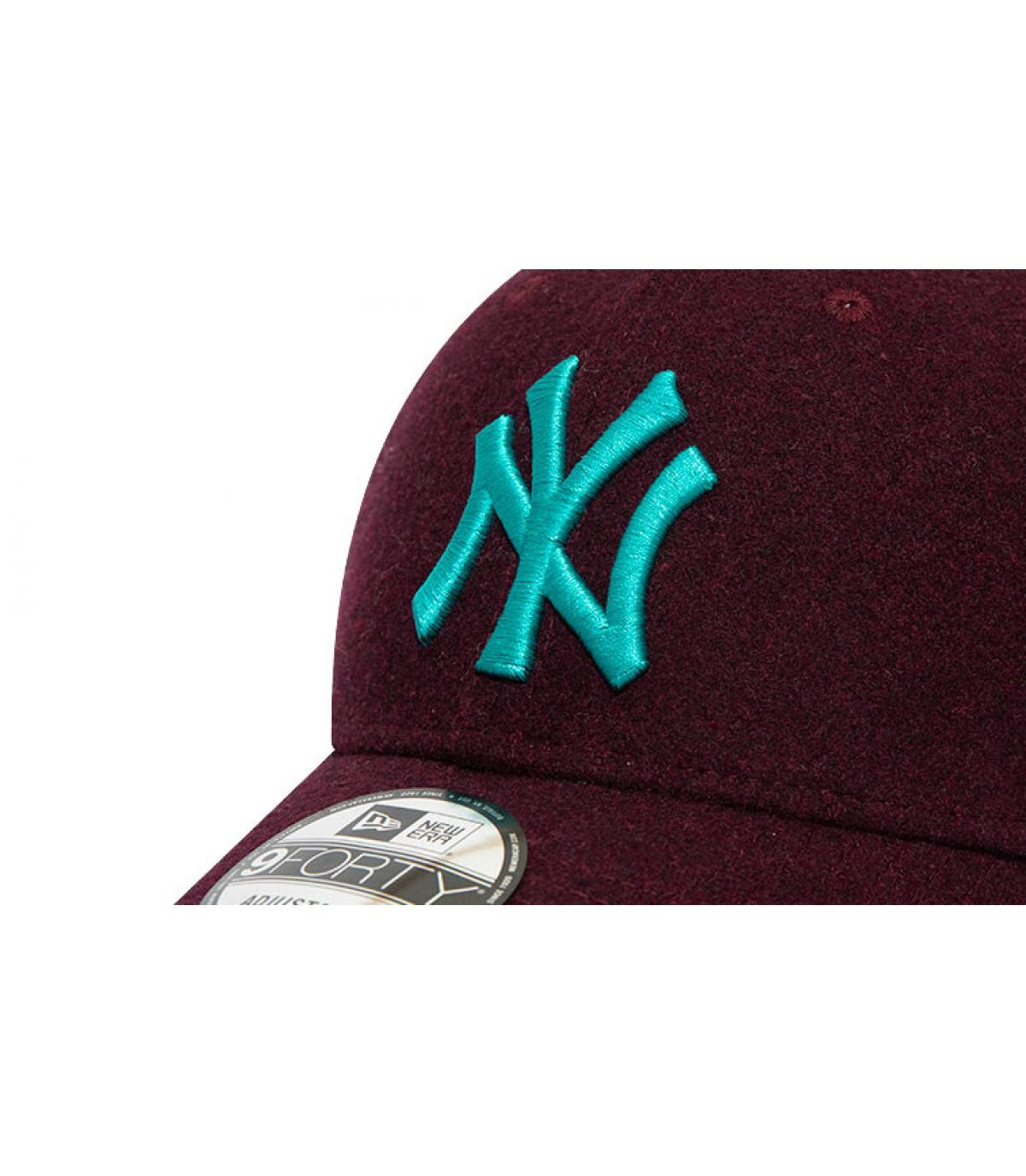Détails Casquette MLB Melton NY 940 graphite maroon teal - image 3