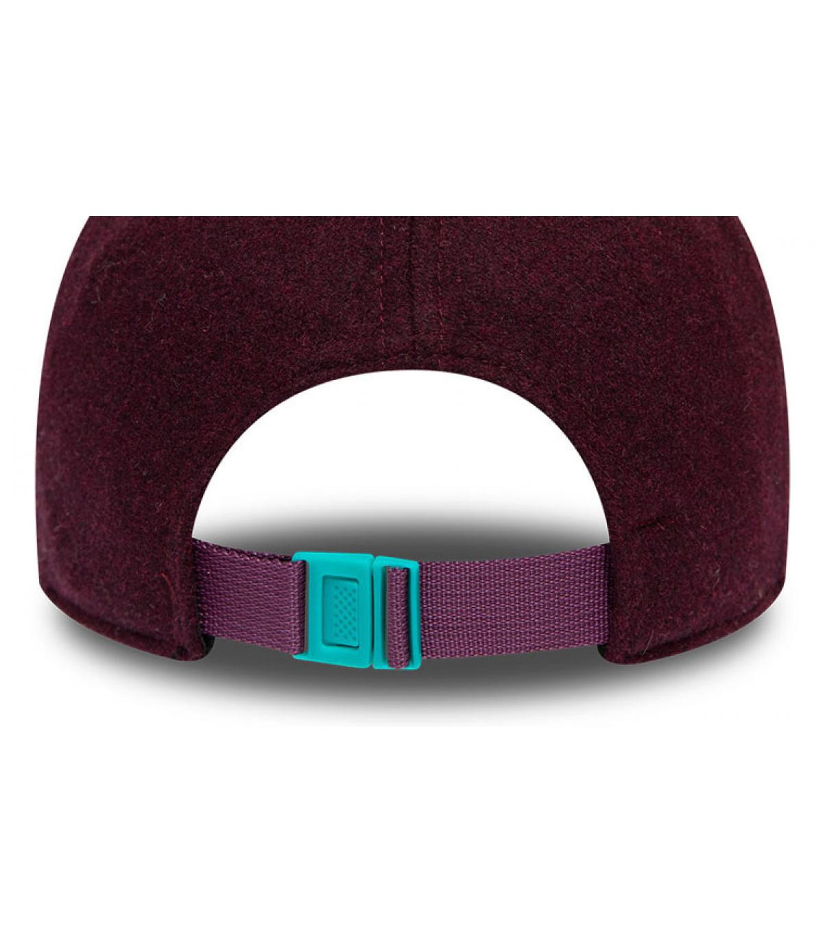 Détails Casquette MLB Melton NY 940 graphite maroon teal - image 4
