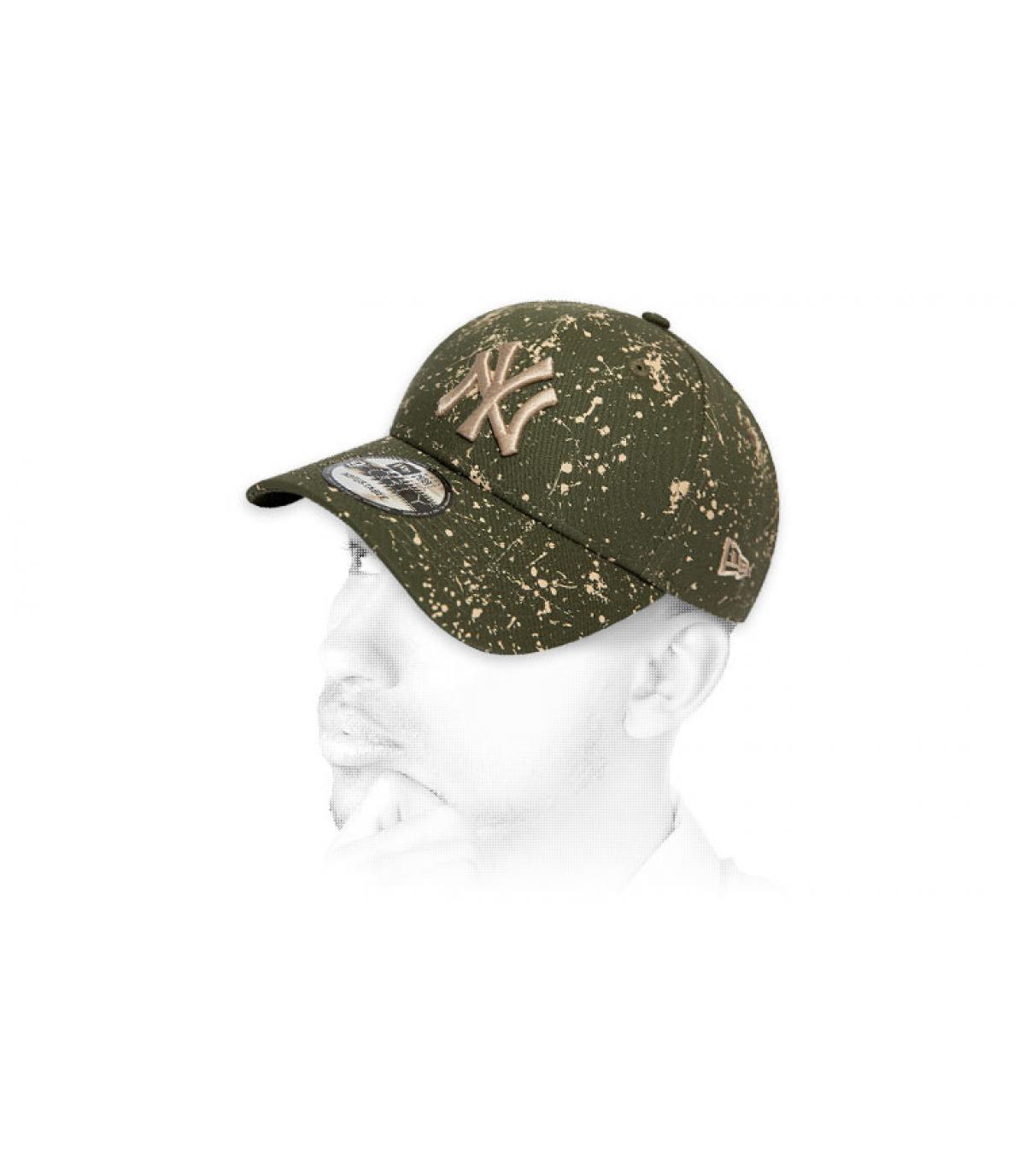 casquette NY imprimé vert