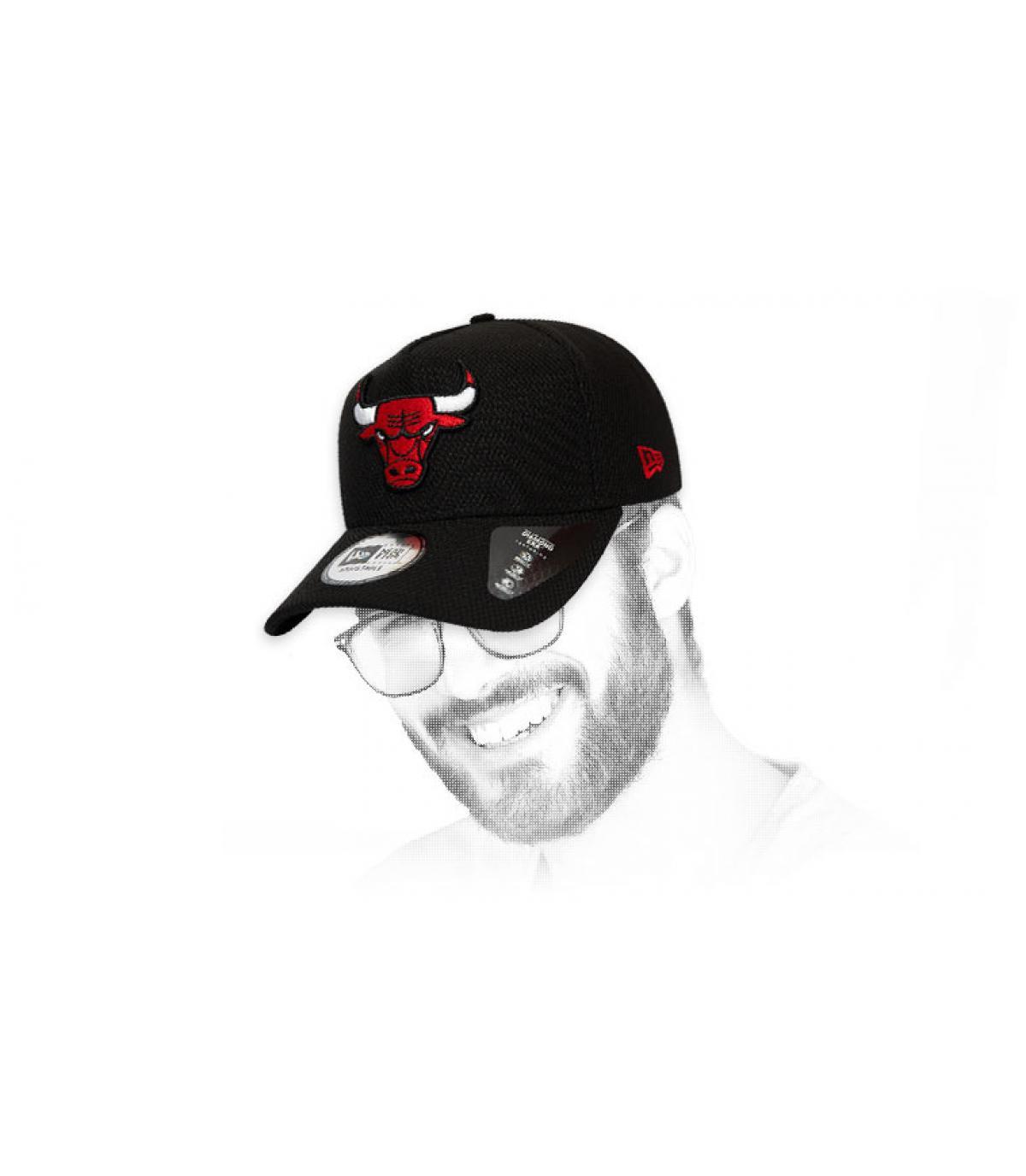 casquette Bulls noir logo