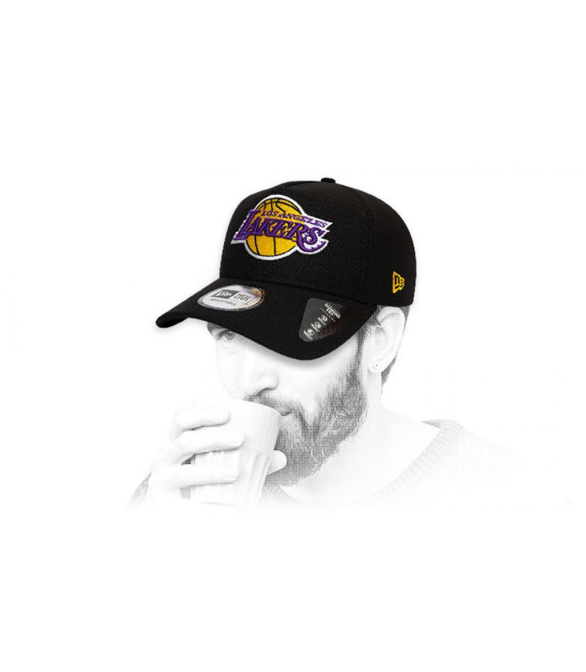 casquette Lakers noir logo