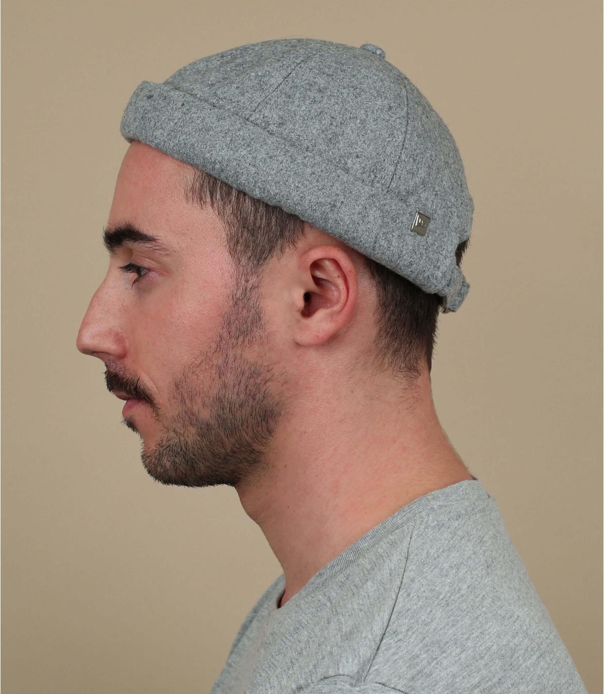 bonnet docker gris laine New Era