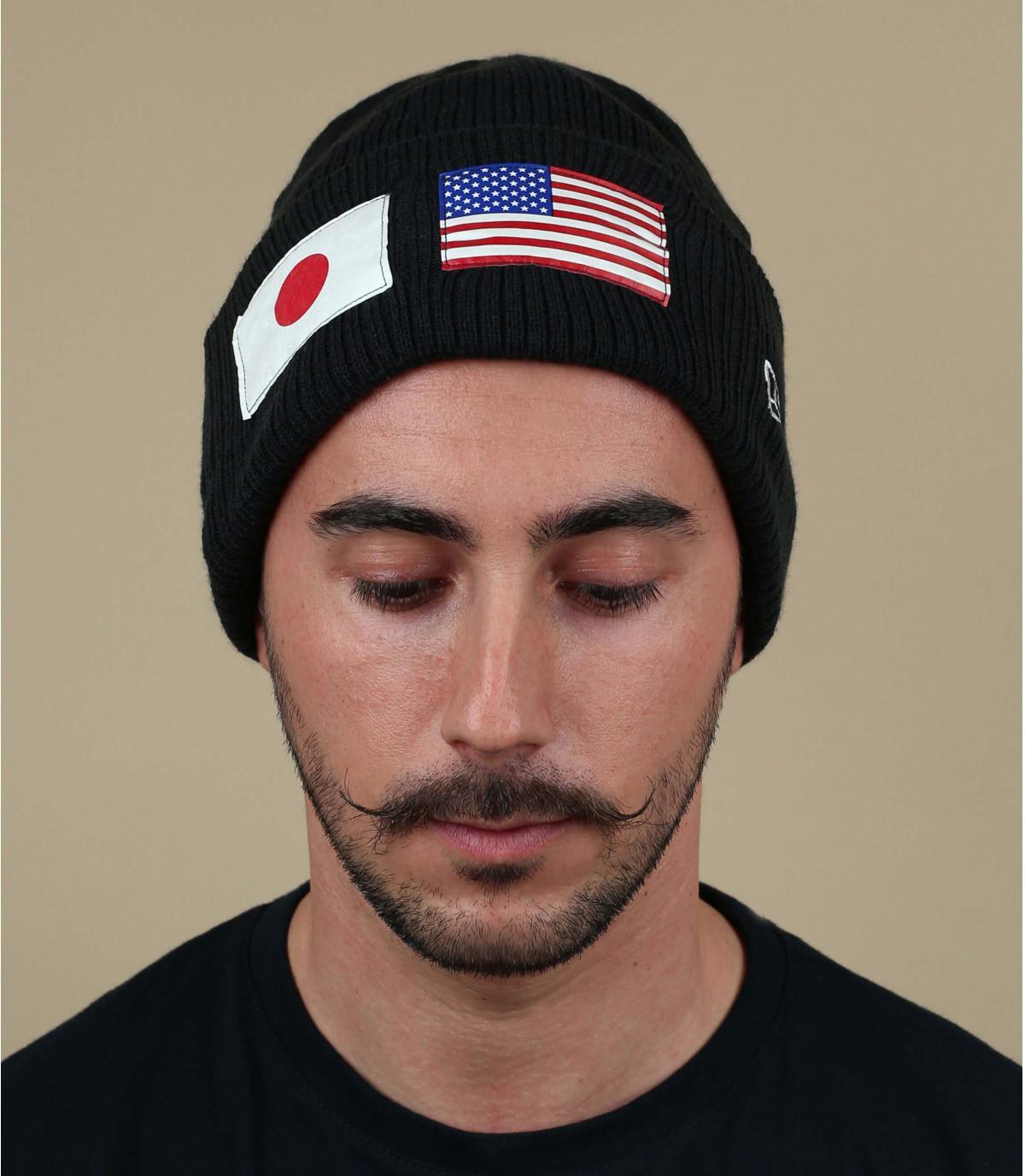 bonnet noir drapeau US