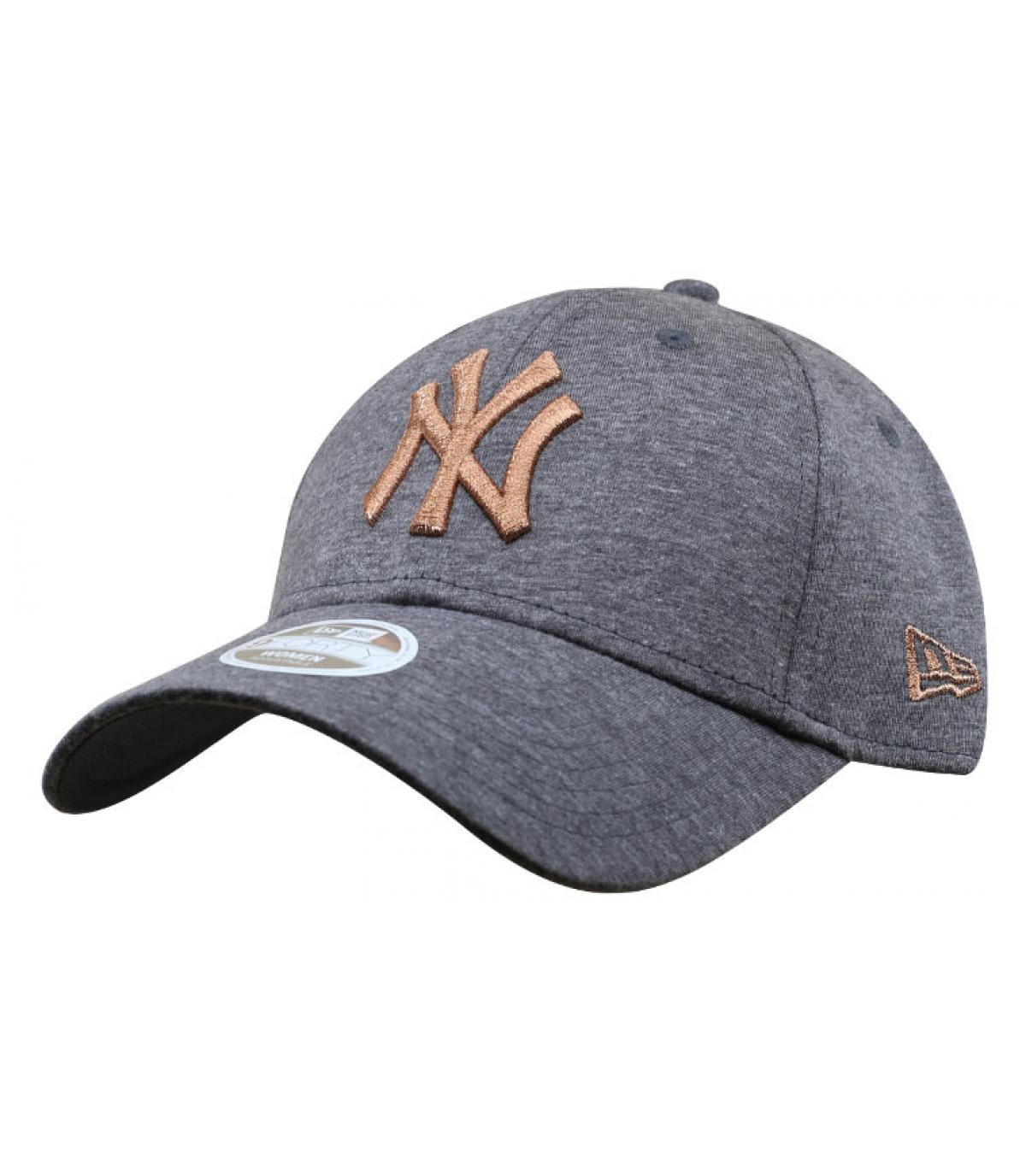 casquette femme gris or NY
