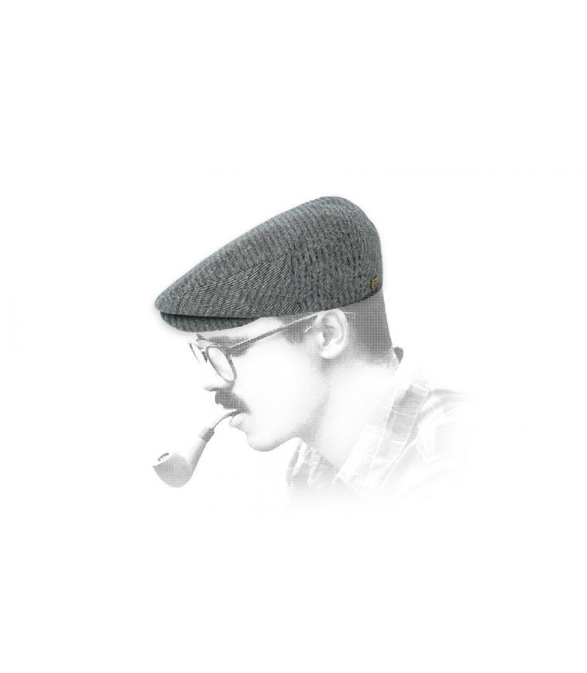 béret gris coton Brixton