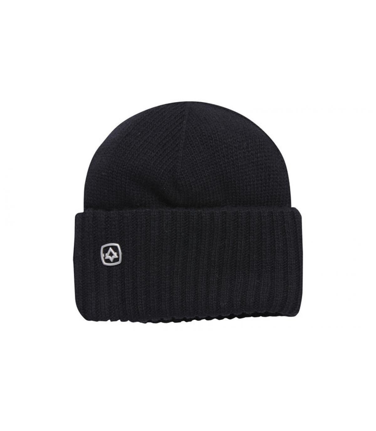 bonnet laine revers noir Coal