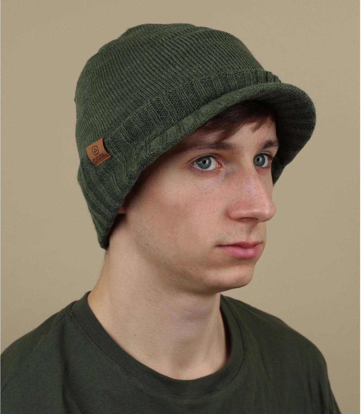 bonnet visière vert Coal