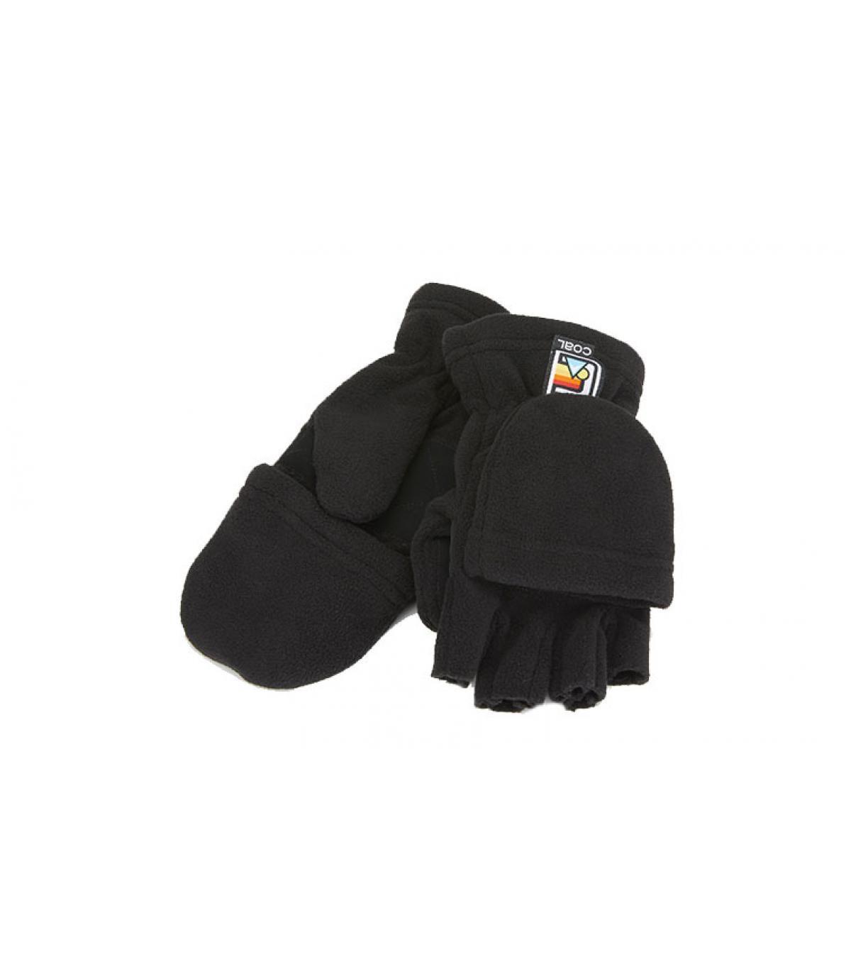 gants mitaines noir Coal