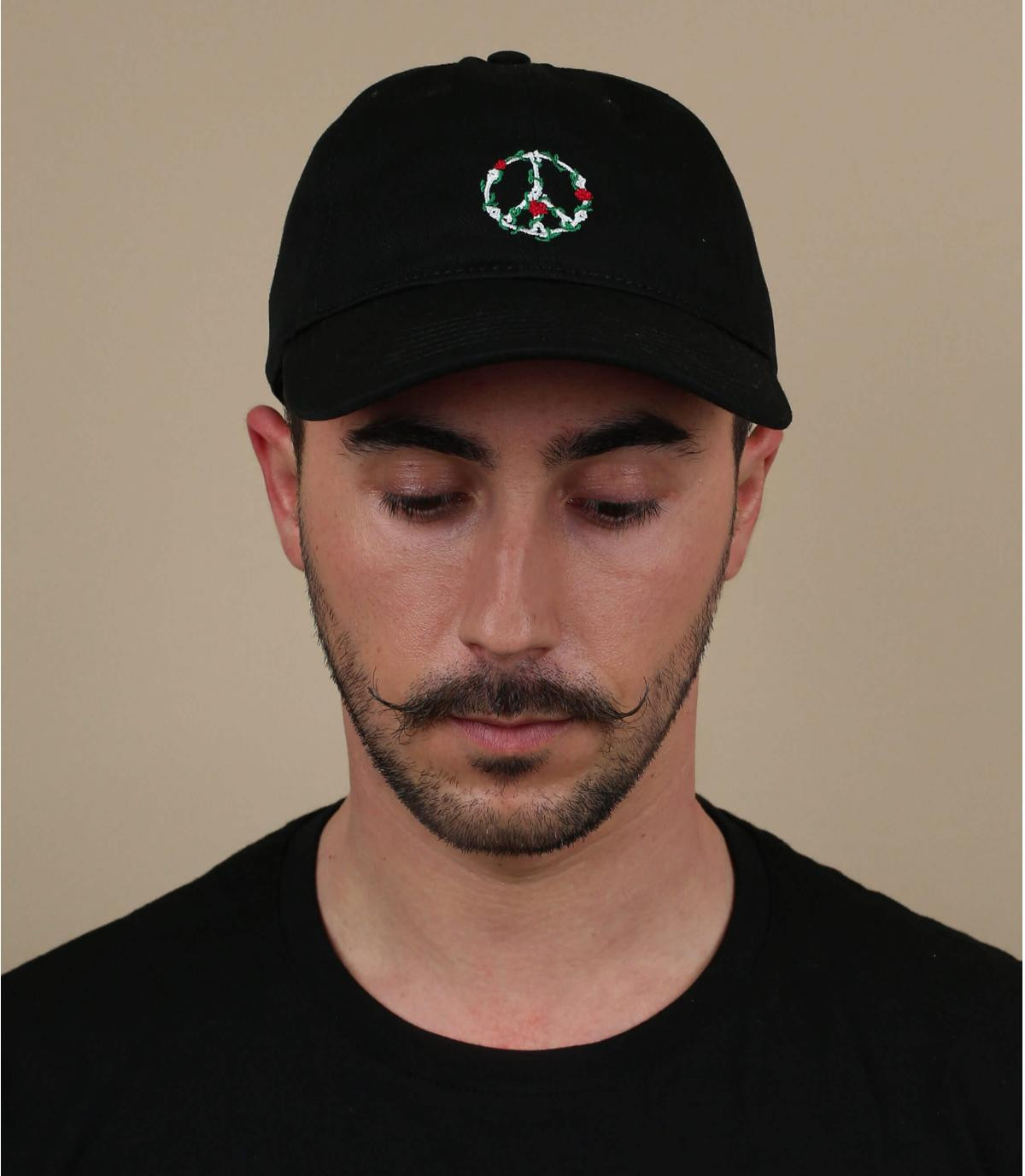 casquette peace noir