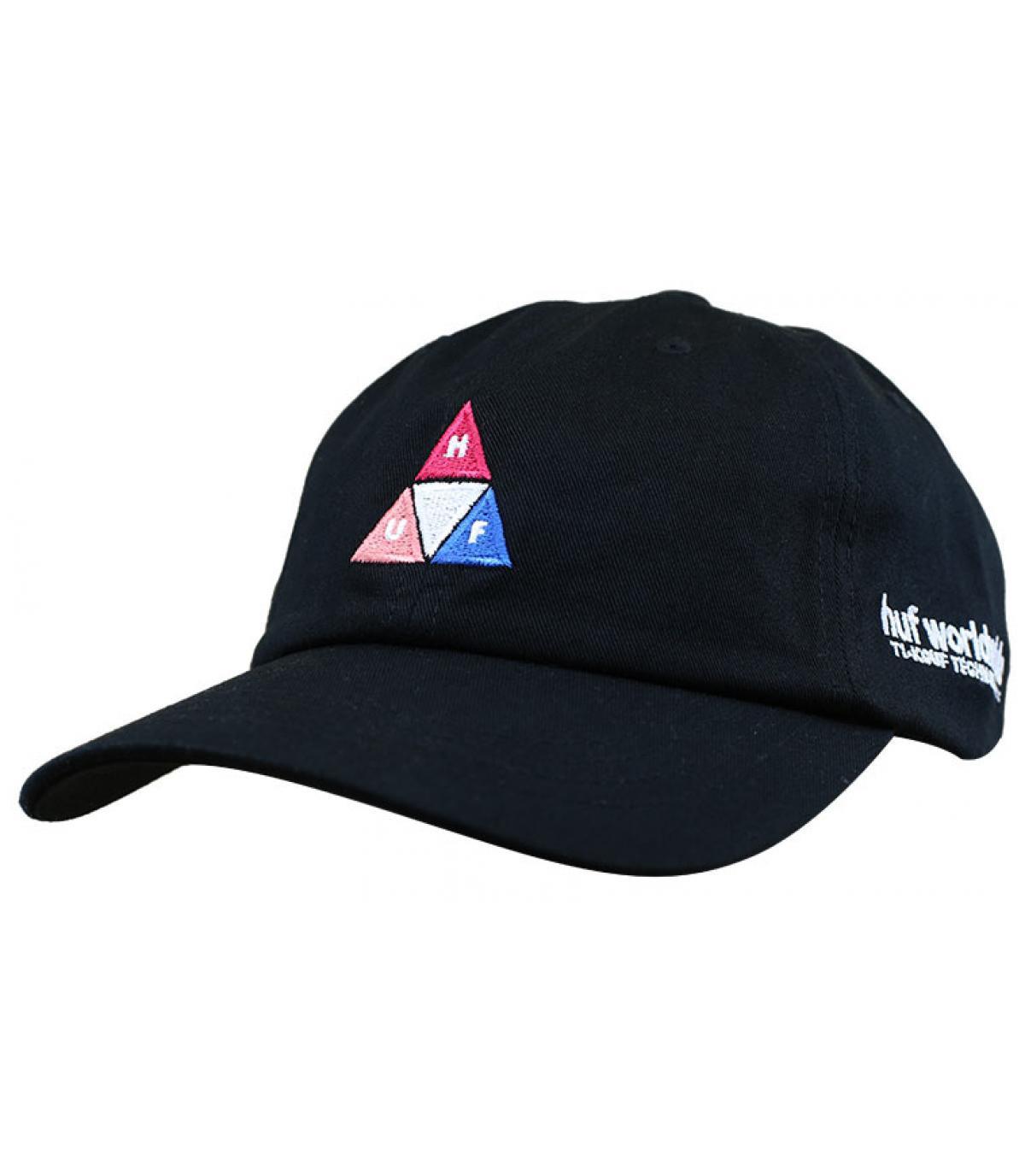 casquette Huf logo triangle noir