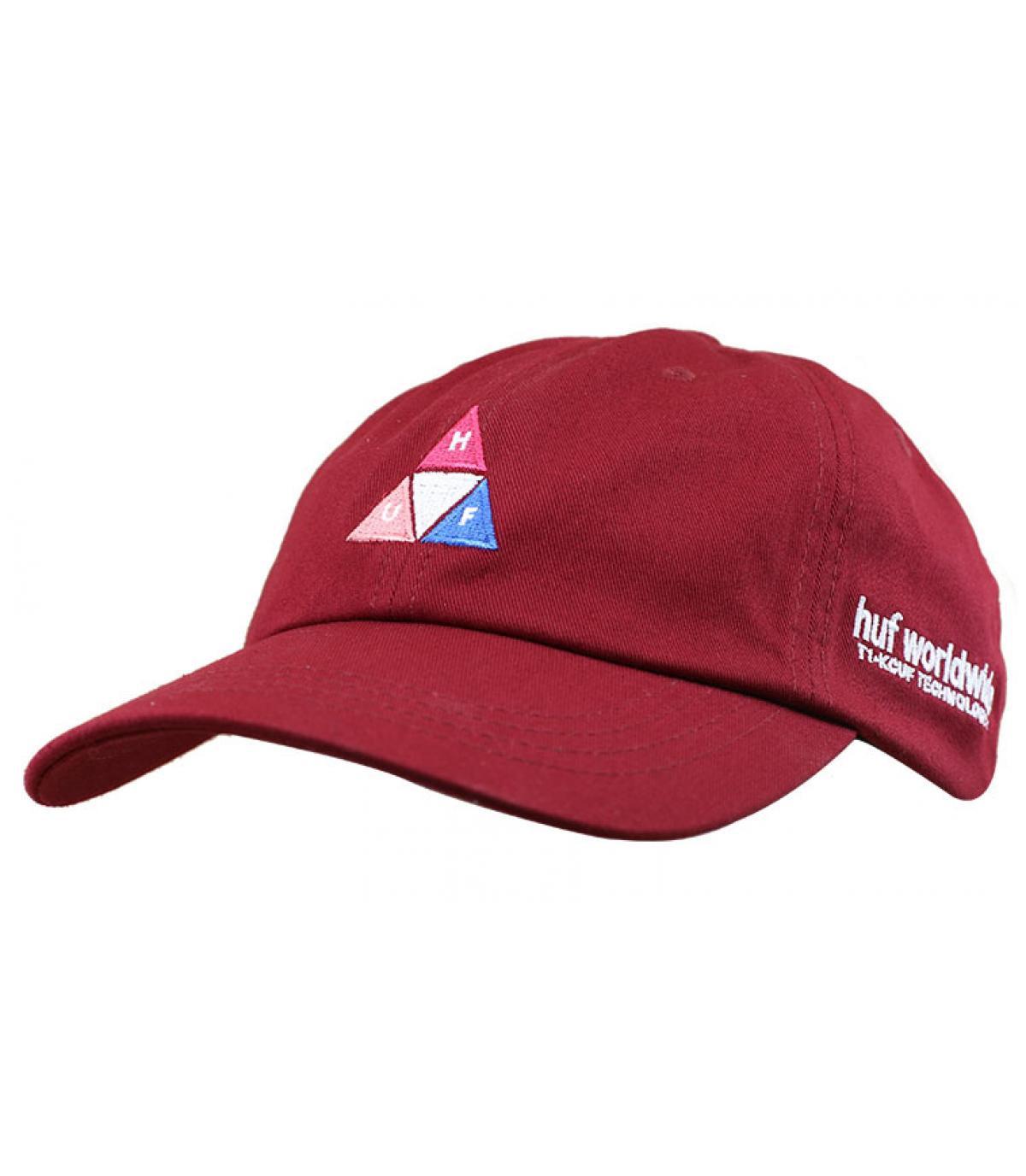 casquette Huf logo triangle bordeaux