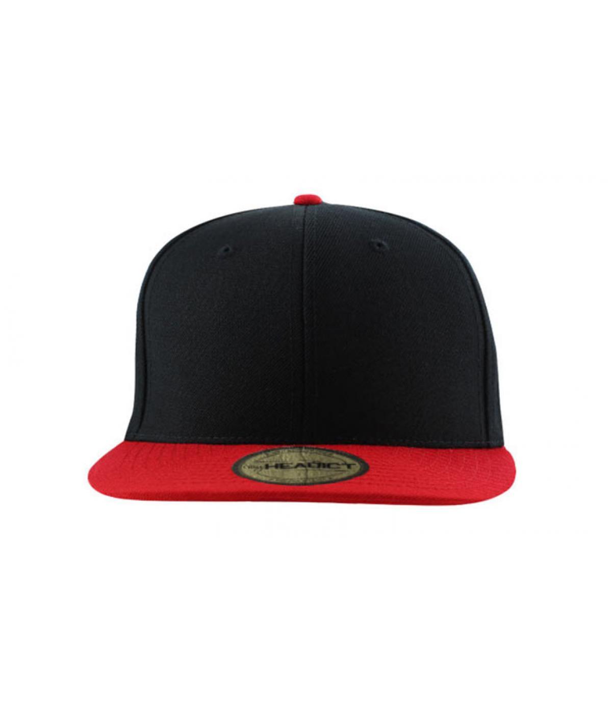 casquette enfant noire rouge