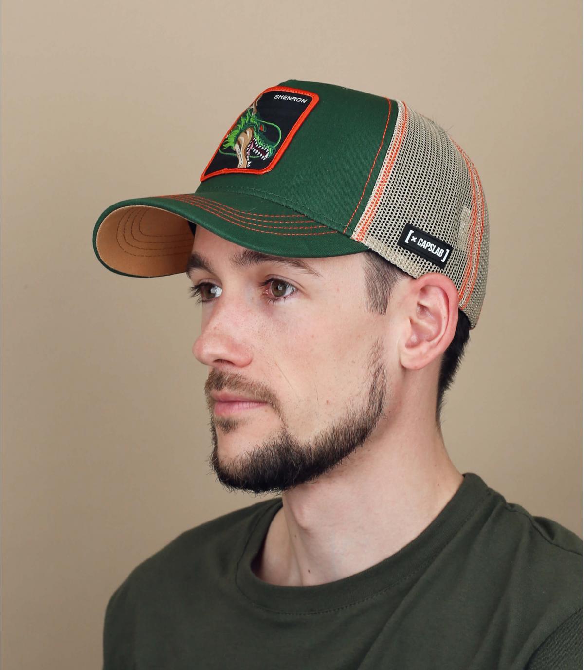 trucker DBZ Shenron vert