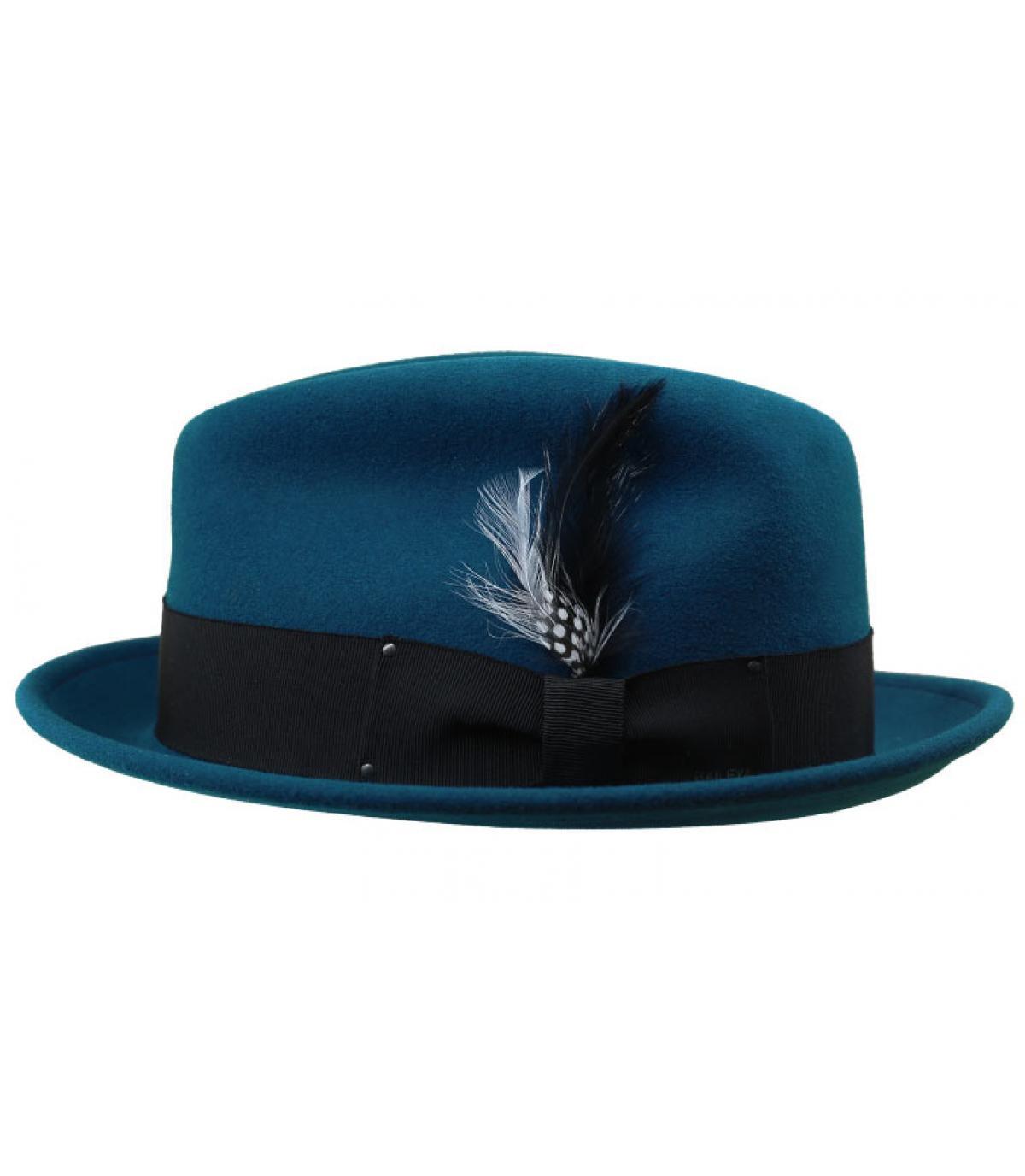 trilby bleu canard feutre