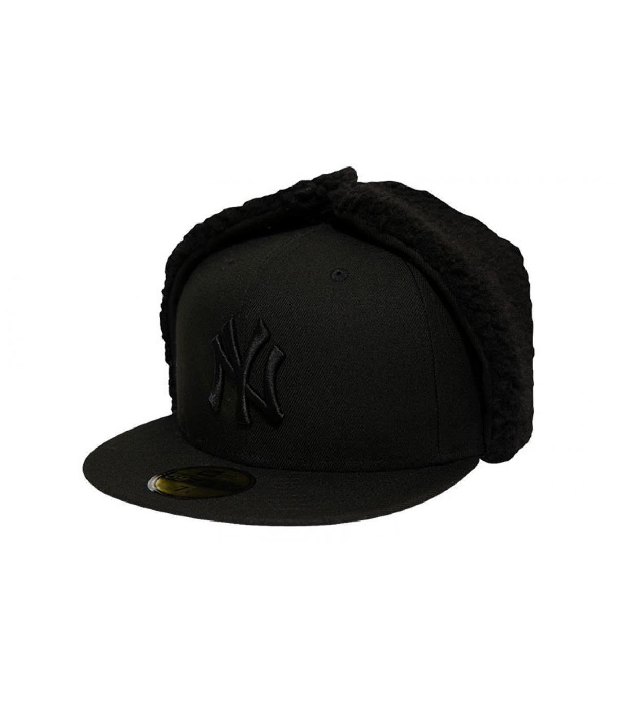 casquette NY oreillettes noir
