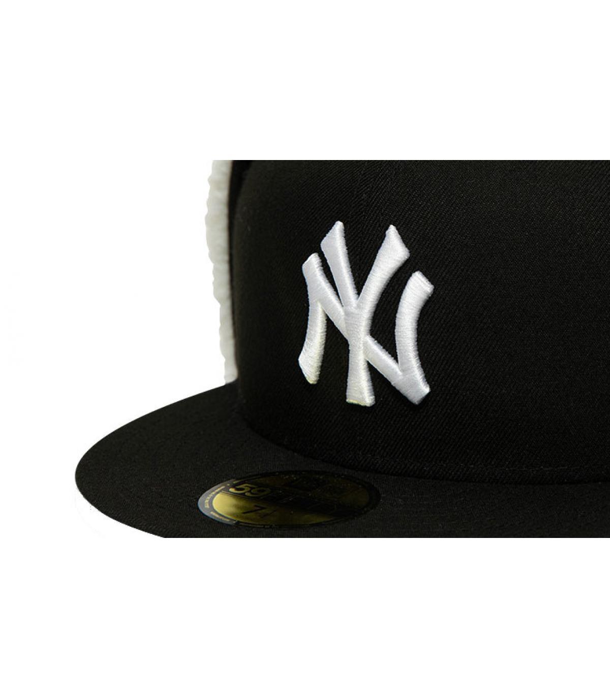 Détails Casquette League Ess Dogear NY 5950 black white - image 3