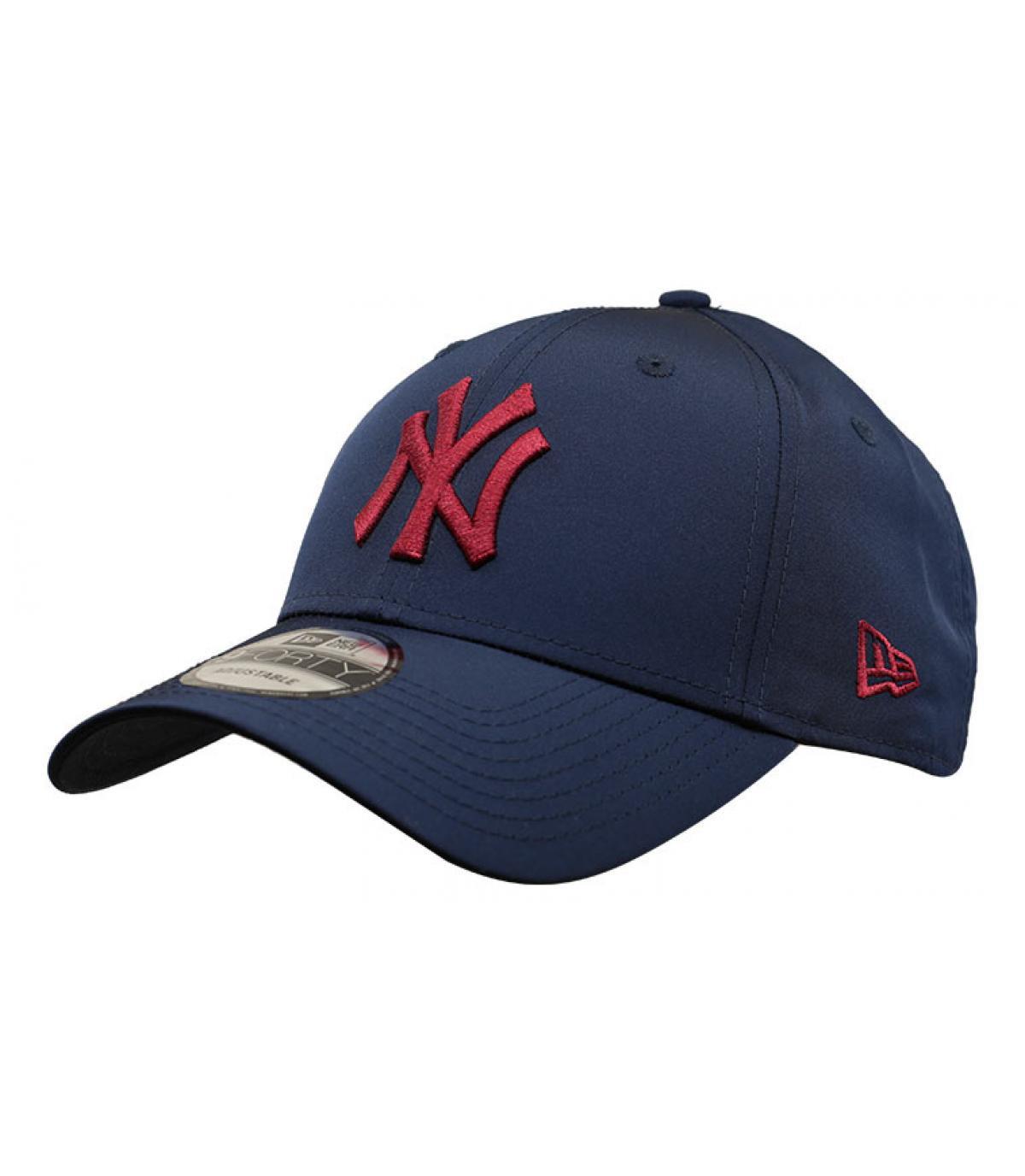casquette NY bleu bordeaux