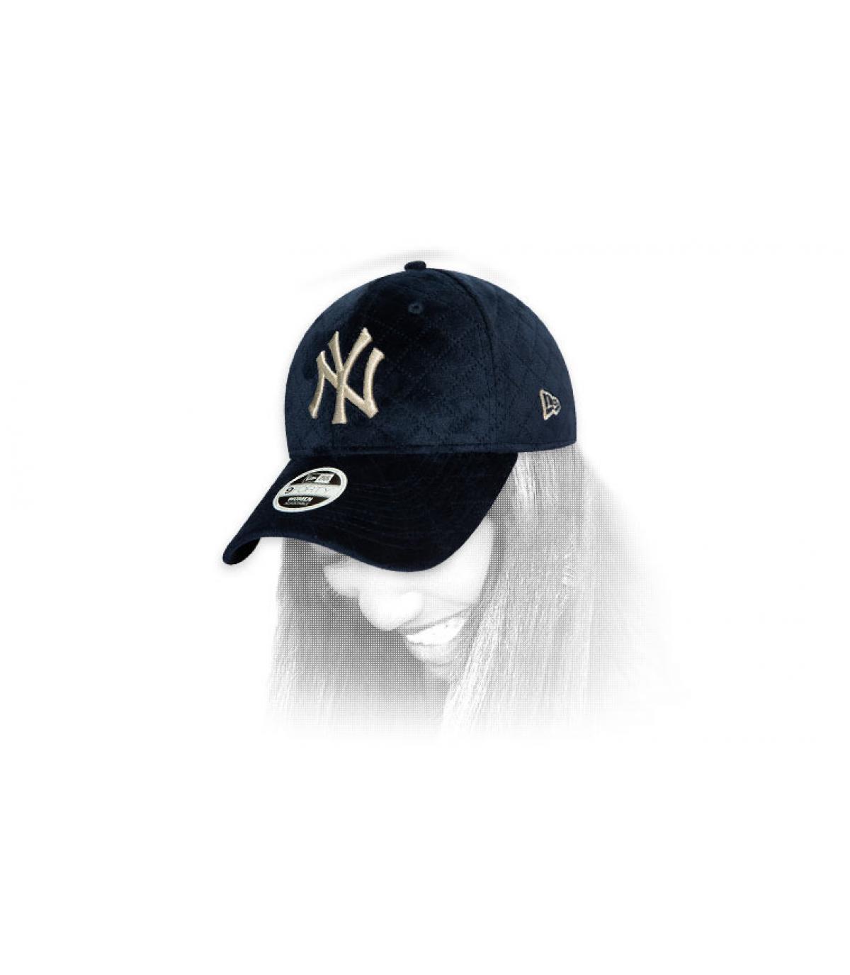 casquette femme NY bleu