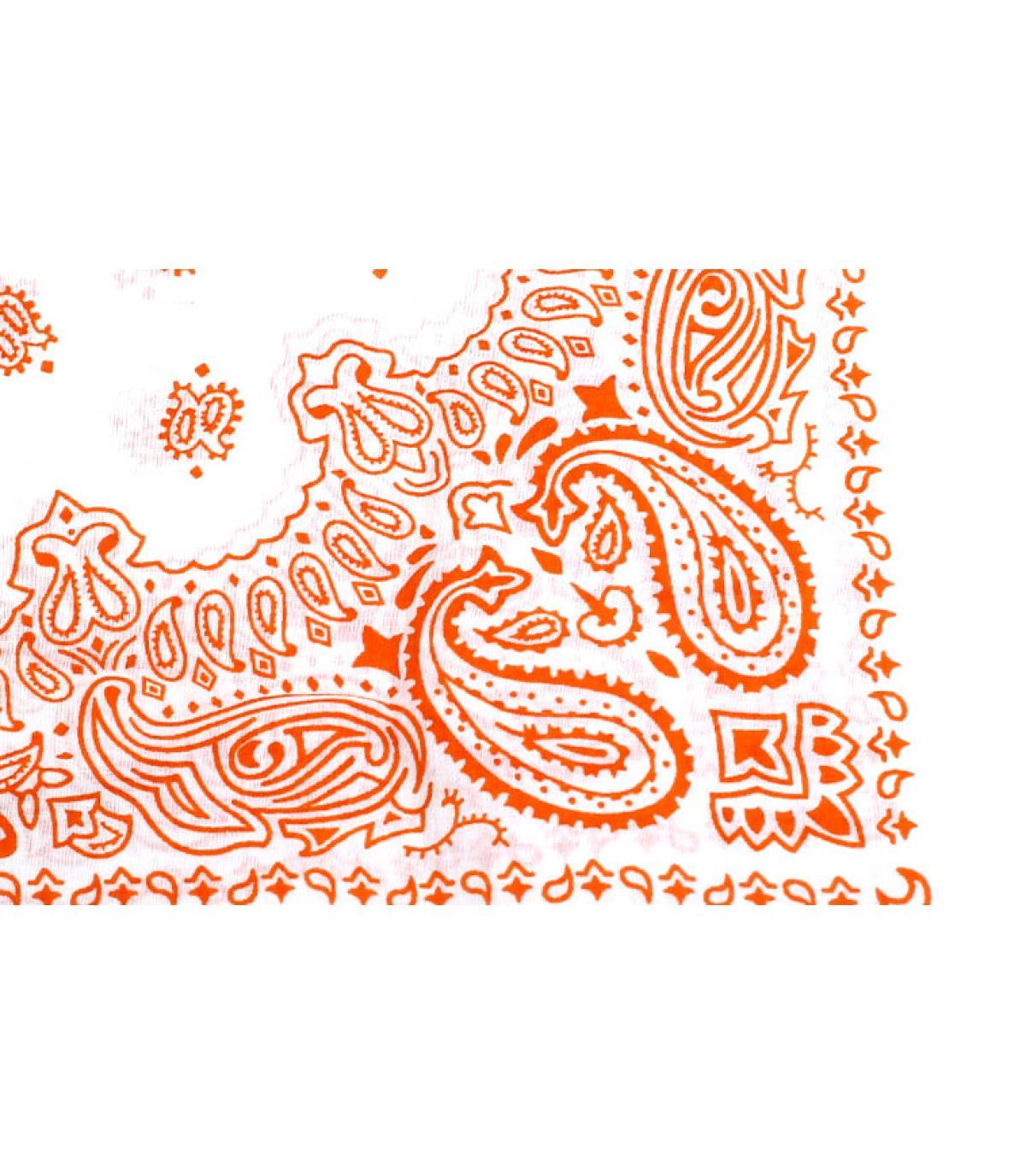Détails Bandana blanc orange - image 2