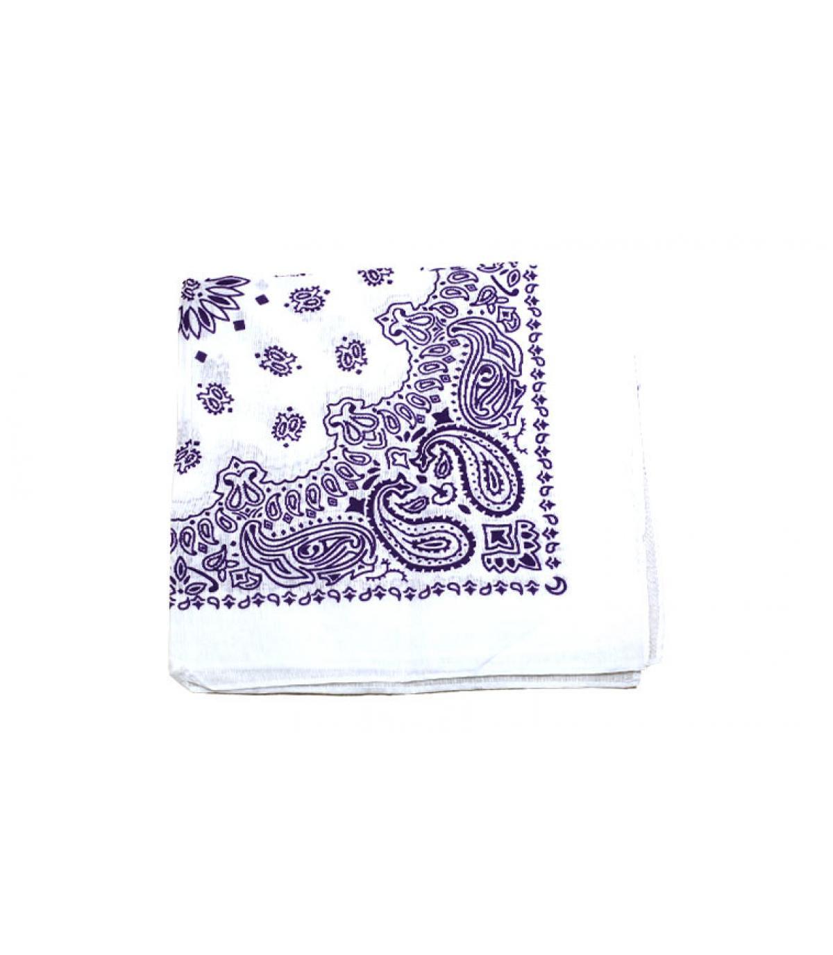 bandana blanc violet