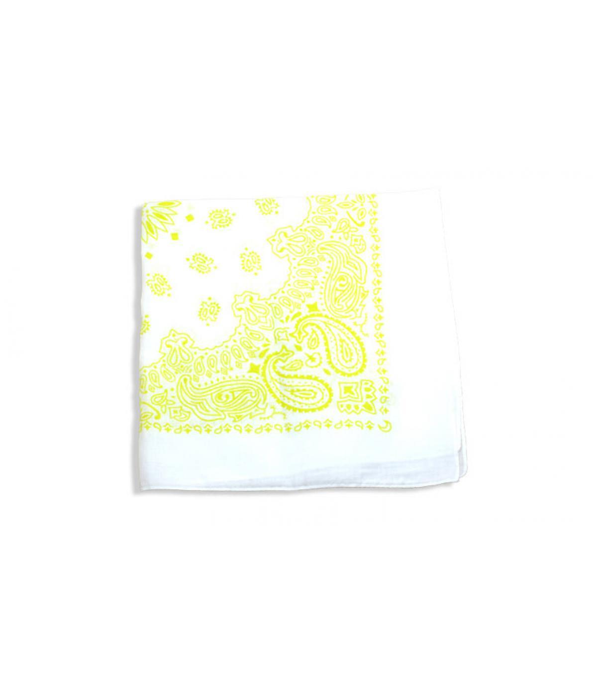 bandana blanc et jaune