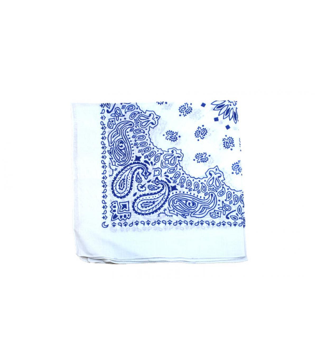 bandana blanc bleu