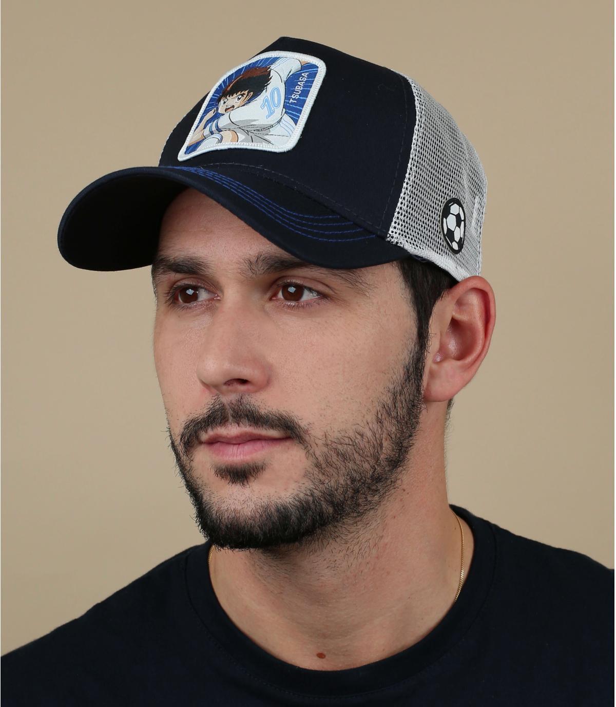 trucker Olivier Atton bleu blanc