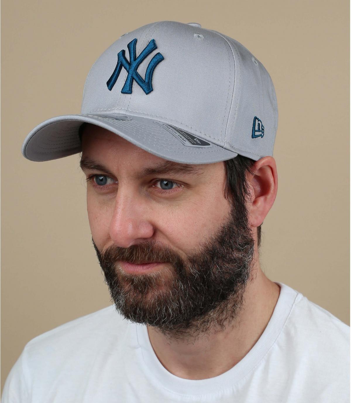 casquette NY bleu gris