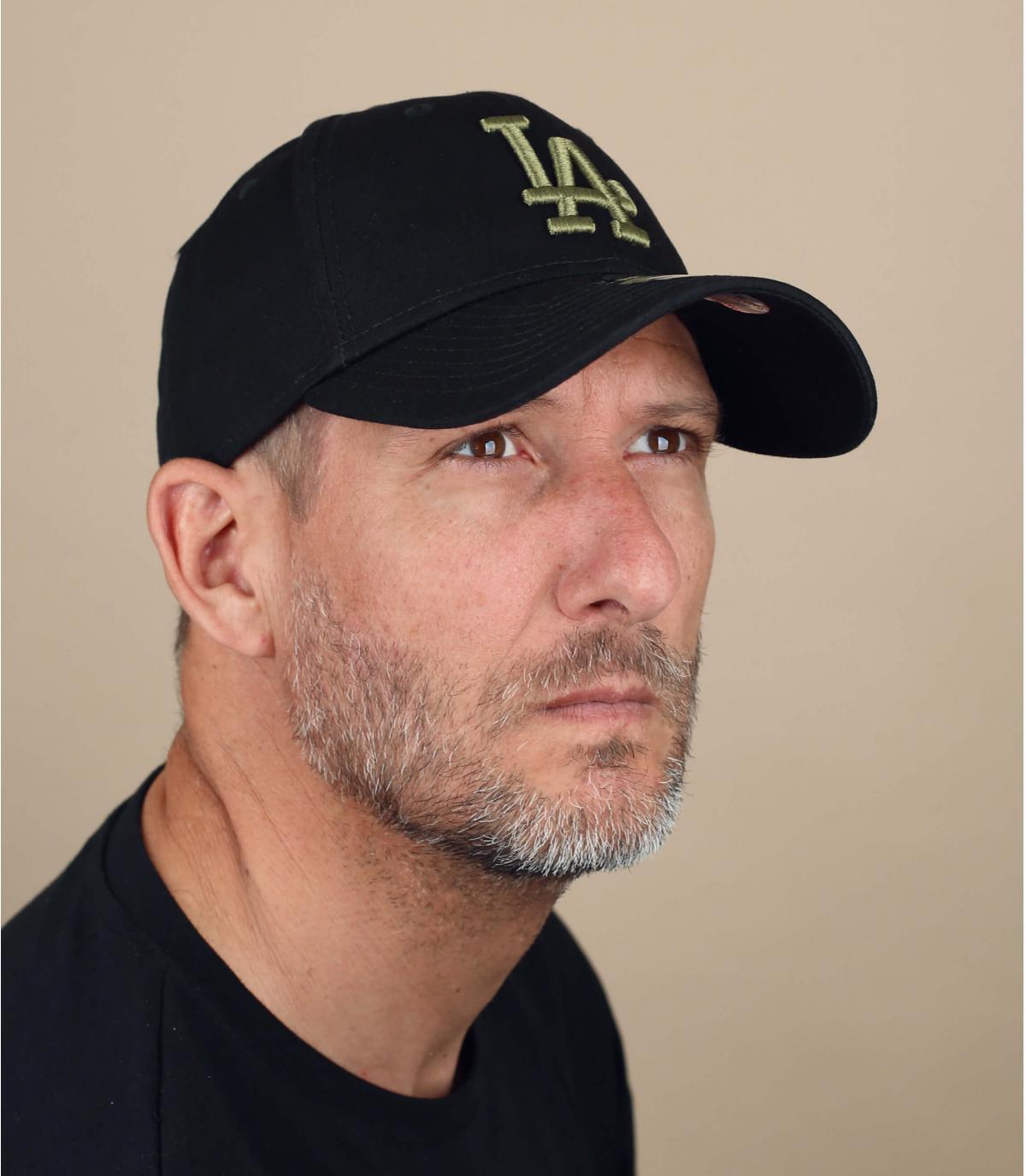 casquette LA noir vert