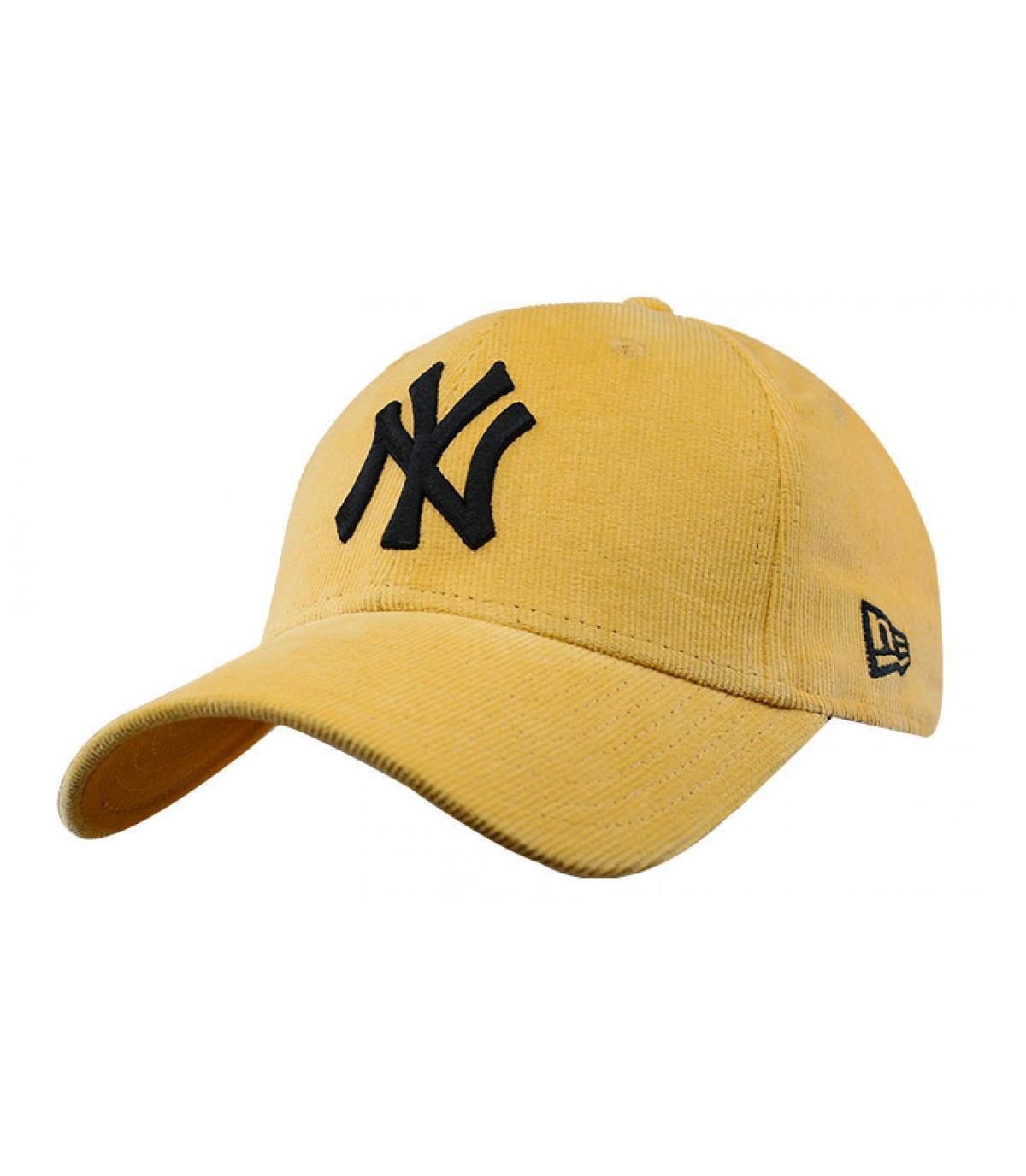 casquette NY velours jaune