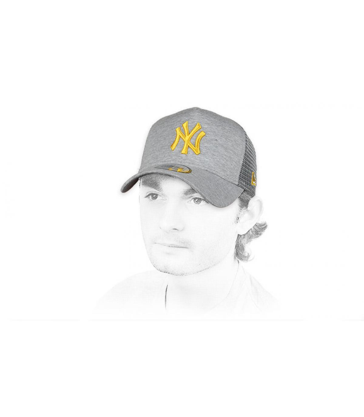 trucker NY gris jaune