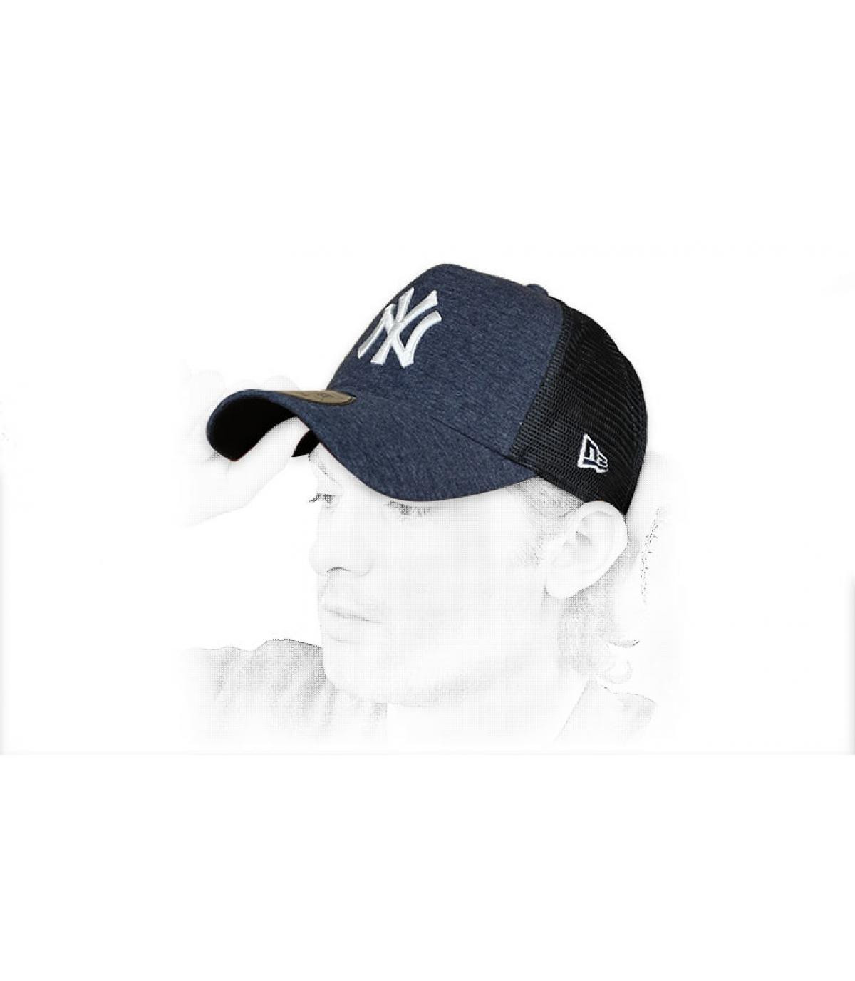 trucker NY bleu blanc