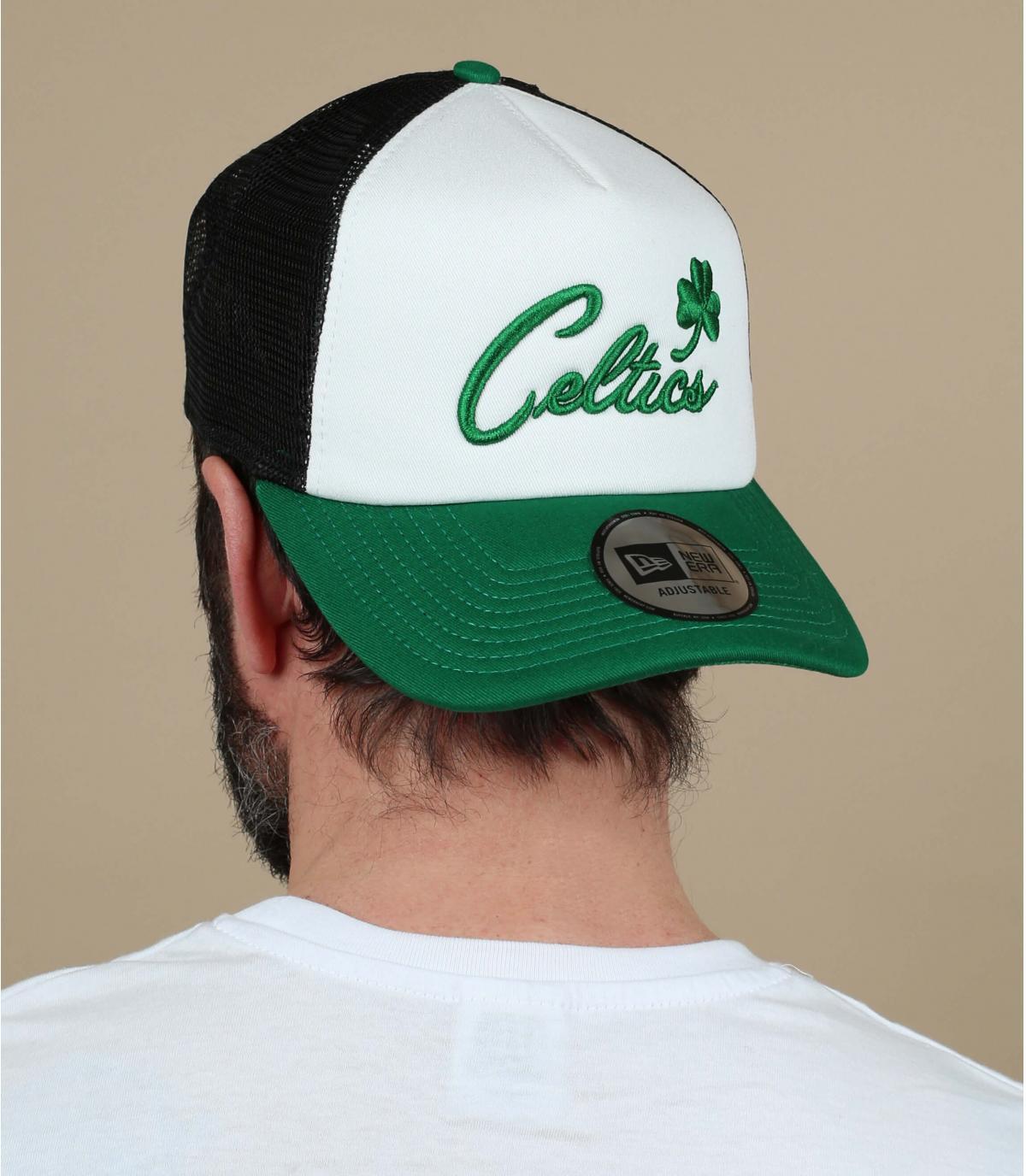 trucker Celtics blanc vert
