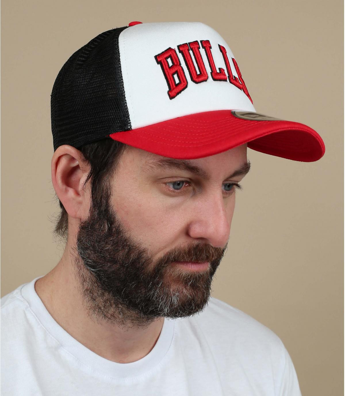 trucker Bulls blanc rouge