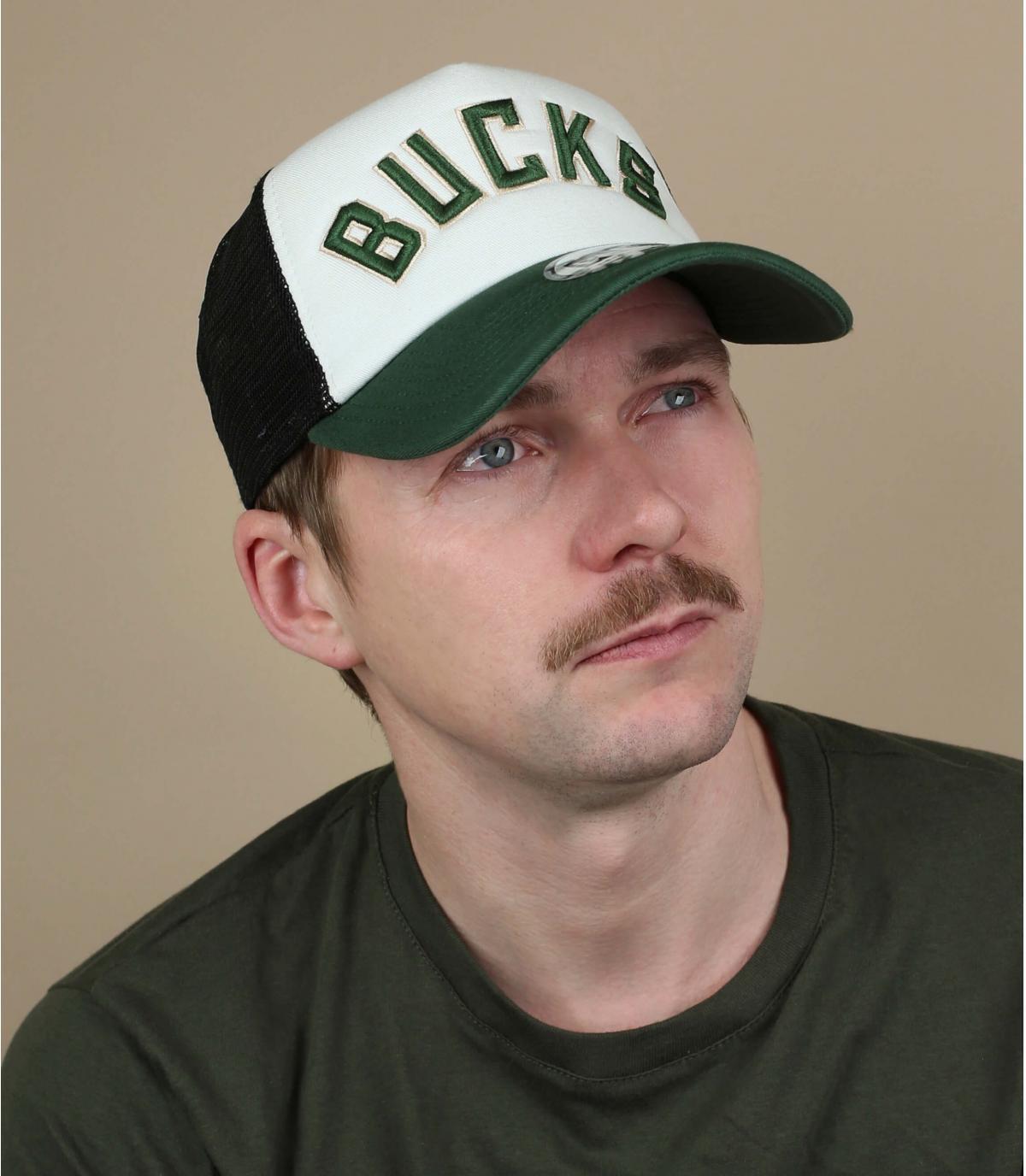 trucker Bucks blanc vert