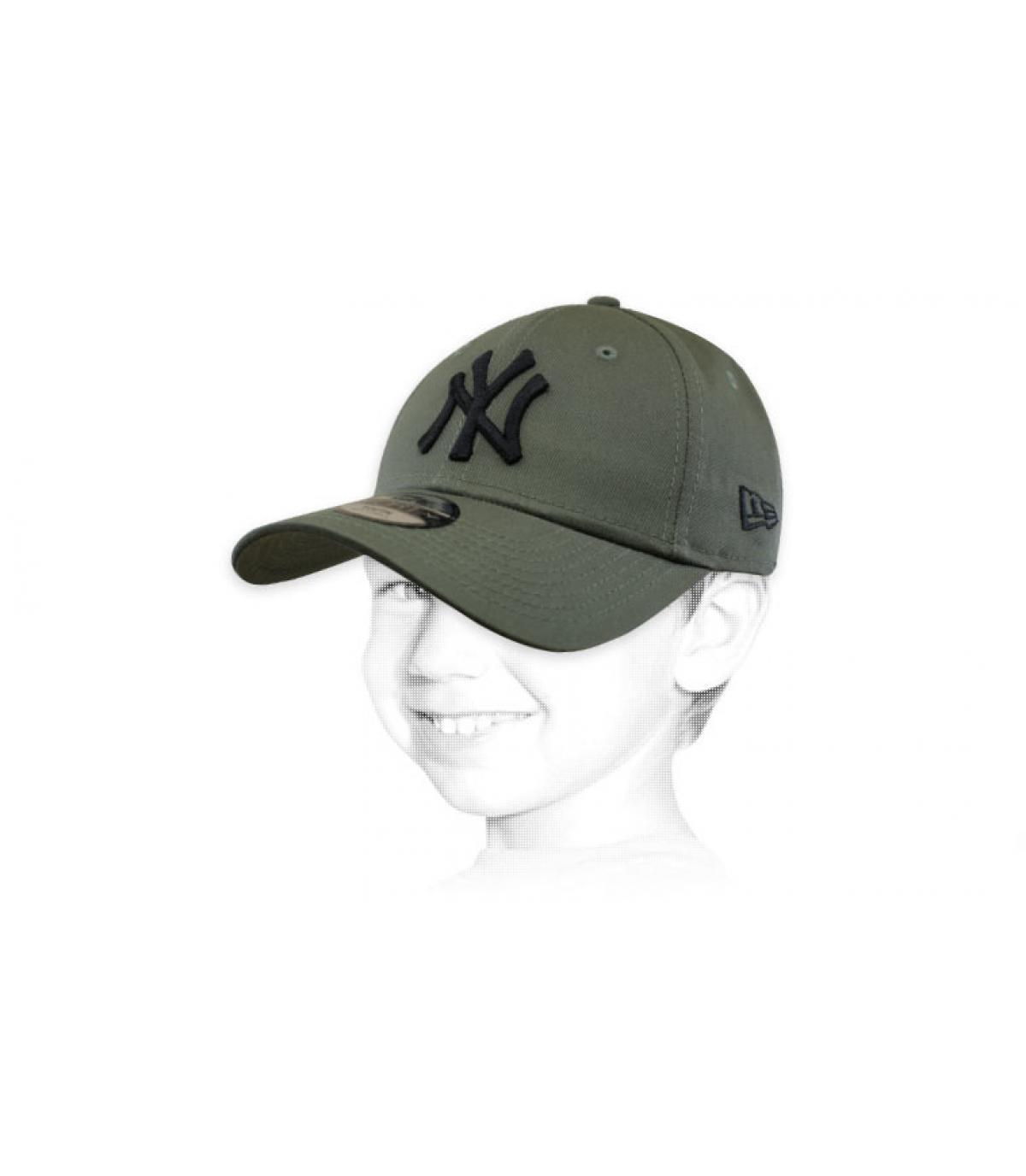casquette enfant vert NY